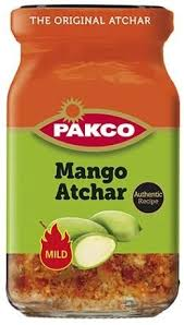 Pakco Pickles Mango Atchar Mild 385g - The South African Spaza Shop