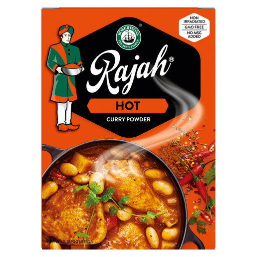 Rajah Hot Curry Powder 100g - The South African Spaza Shop