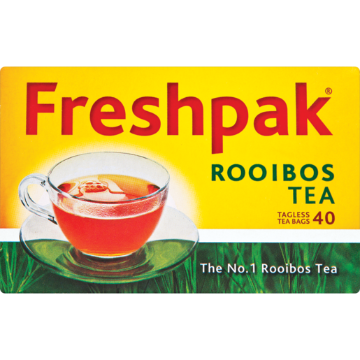 FreshPak Rooibos Tea 40 Tagless TeaBags Box - The South African Spaza Shop