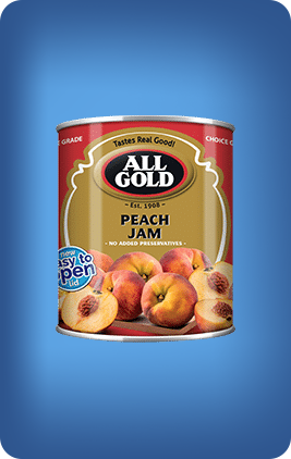 All Gold Peach Jam Smooth 450g - The South African Spaza Shop