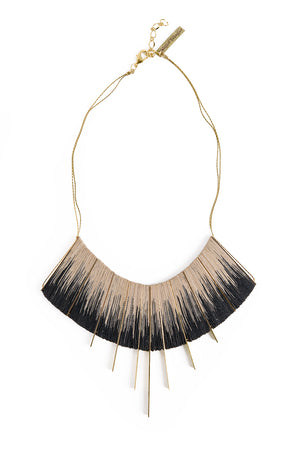 Gold/Black L Ikat necklace