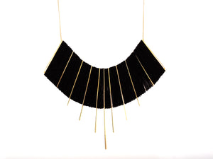 Kilim gold necklace