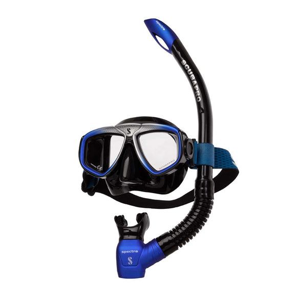 Zoom Mask and Snorkel Combo, Black/Blue