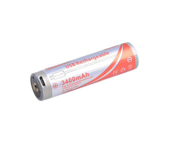 18650-USB Battery, 3400 mAh