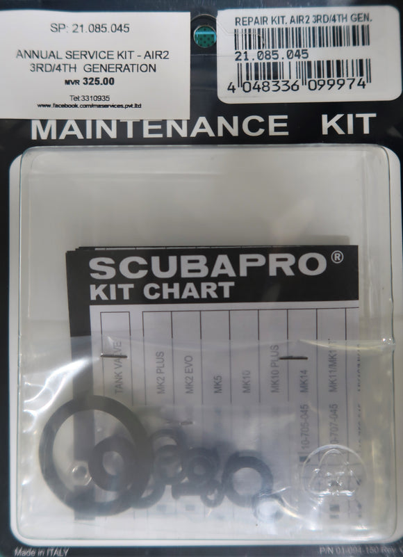 SCUBAPRO Air2 3rd/4th Gen Service Kit