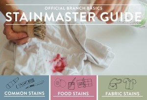 Official Branch Basics Stainmaster Guide: How to Treat Any Stain Quickly and Easily