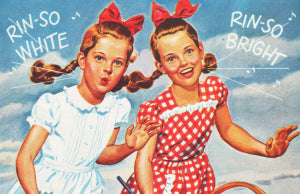 Rinso Twins Vintage Laundry Ad Branch Basics