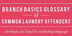 Toxic Laundry chemicals glossary Branch Basics
