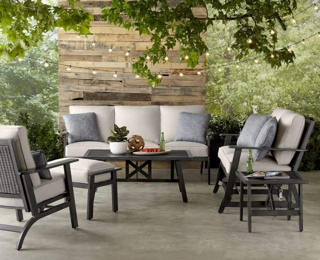 ADDISON 4 PIECE SEATING SET - Love Seat Glider, 2 Spring Chairs and Coffee Table