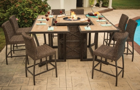 FREMONT FIRE TOWER 9 PIECE SET - Fire Table and 8 Stools