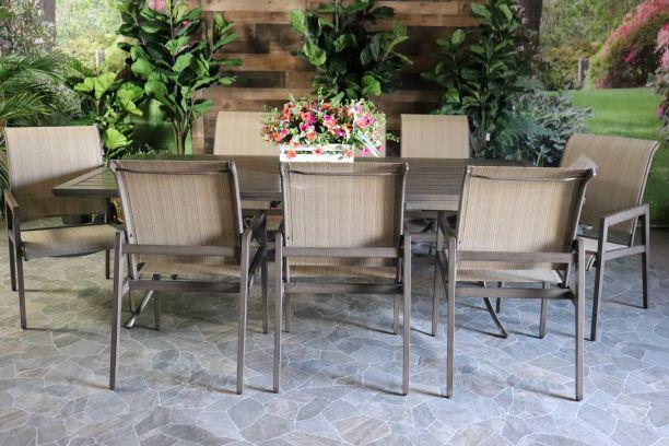 ASTON 9 PIECE DINING SET - 48