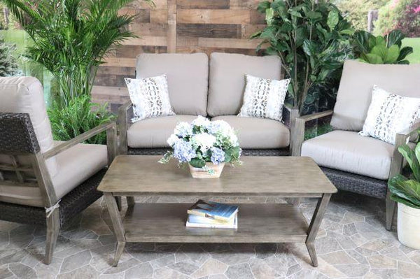 CEDARBROOK 4 PIECE SEATING SET -  Love Seat, 2 Club Chairs and Coffee Table