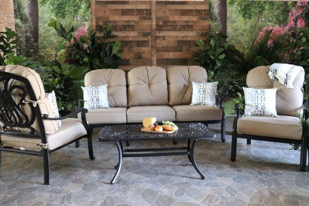 LYNNWOOD 4 PIECE SEATING SET - Sofa, 2 Club Chairs and Coffee Table
