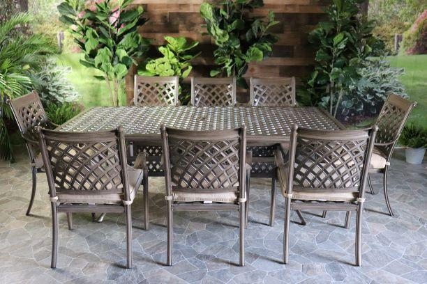 OAKCREST 9 PIECE DINING SET - 60