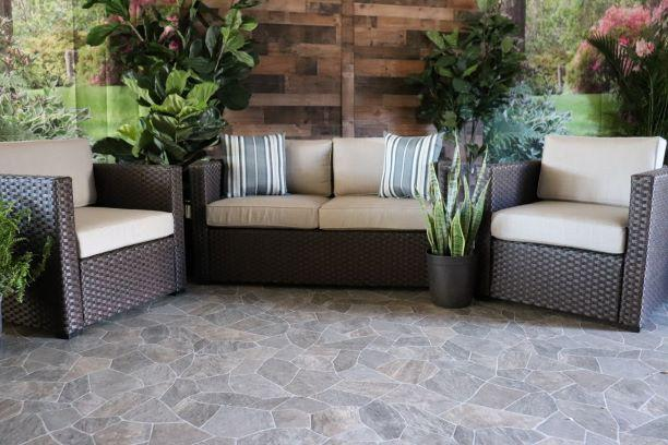 PORTOFINO 3 PIECE SET - Love Seat, Club Chair and Swivel Glider