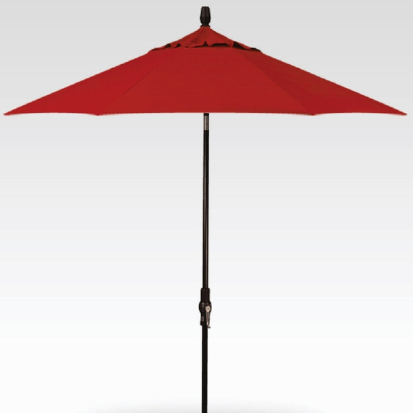 9ft Auto Tilt Umbrella - Jockey Red