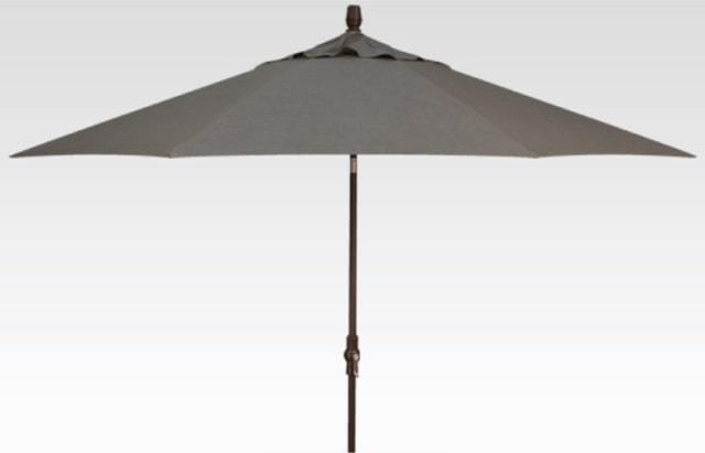 11' Auto Tilt Umbrella - Astoria Sunset Stripe