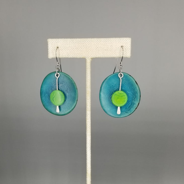 Tagua Nut Drops Bold Natural Earrings