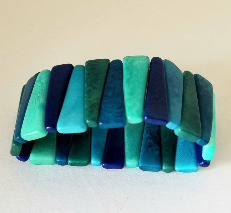 Tagua Nut Bracelet in Blue
