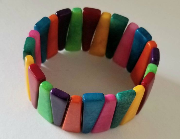 Tagua Nut Bracelet in Brights
