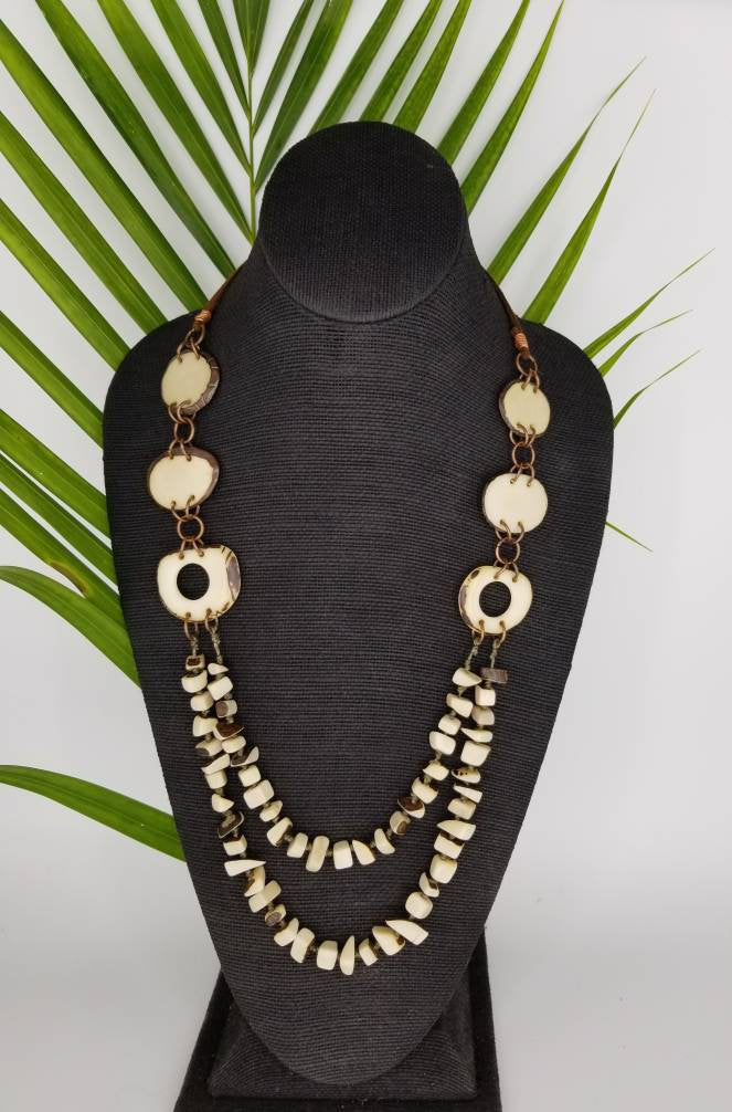 White Tagua Nut Necklace
