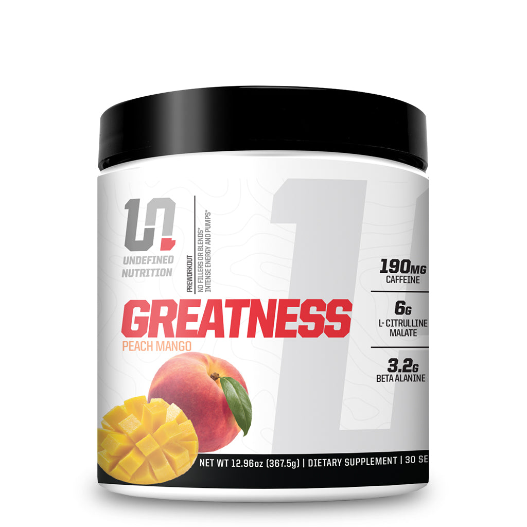 Undefined Nutrition Pre-workout Peach Mango