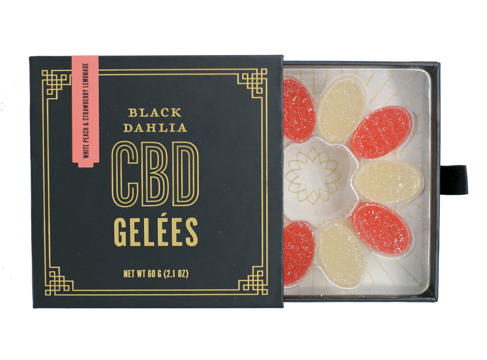 CBD Gelées White Peach & Strawberry Lemonade Black Dahlia