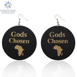 MOTHERLAND Afro Wood Drop HTB Earrings