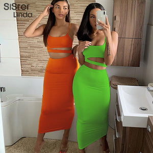 """NOT SO BASIC"" HTBabe 2pc set (S,M,L)"