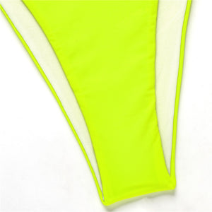 POPPIN Neon Crop Top Swimsuit (S,M,L)