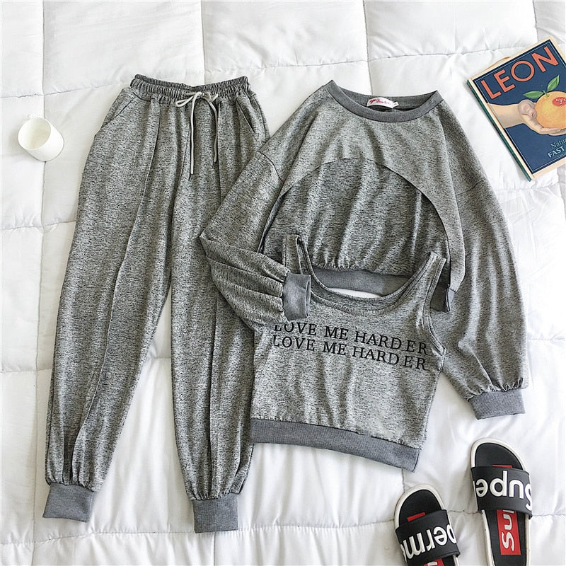 """LOVE ME HARDER"" HTBabe 3pc set (S-XL)"