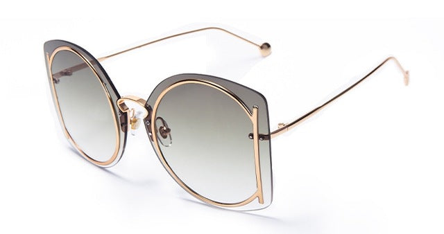 HTB Frameless Personality Luxury Sunglasses