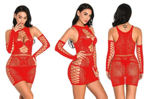 Sexy Lace lingerie Sheer Mesh Fishnet  Bodycon Butterfly Pattern Nightwear