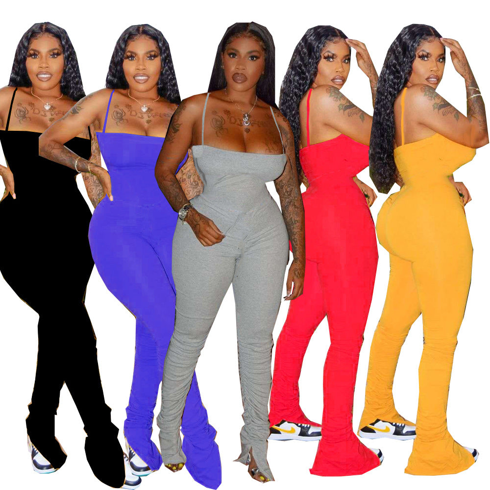 STACKED Ruched Bodycon Jumpsuit (S-3XL)