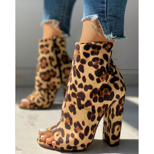 """CHEETAH CHASIN'""Ankle HTBoots (4.5-11)"
