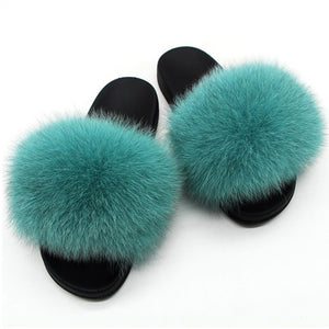 """OH OCEAN"" Foxy Furry Slippers (6-11)"