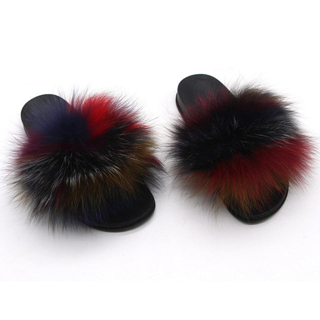 """COLOR ME BADD"" Foxy Furry Slippers (6-11)"