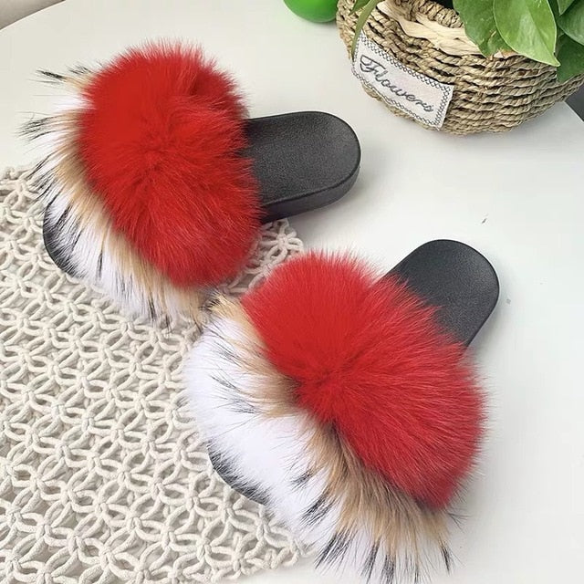 """NICE N' SPICED"" Foxy Furry Slippers (6-11)"