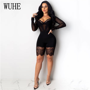 PIMPIN Bodycon Short Romper (S-2XL)