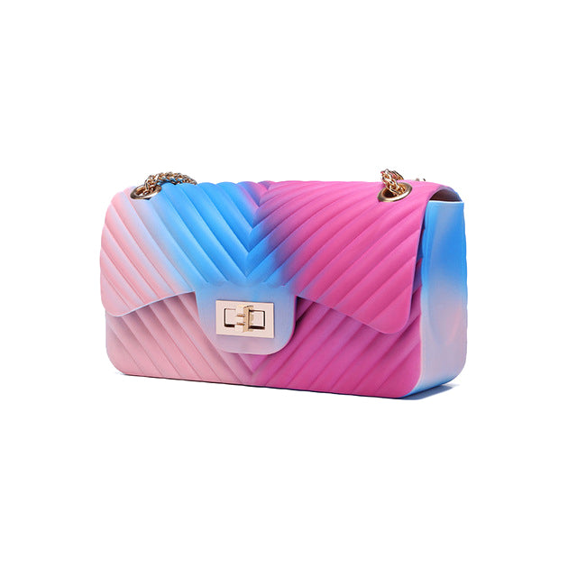 HTB Rainbow Wave Jelly Purse