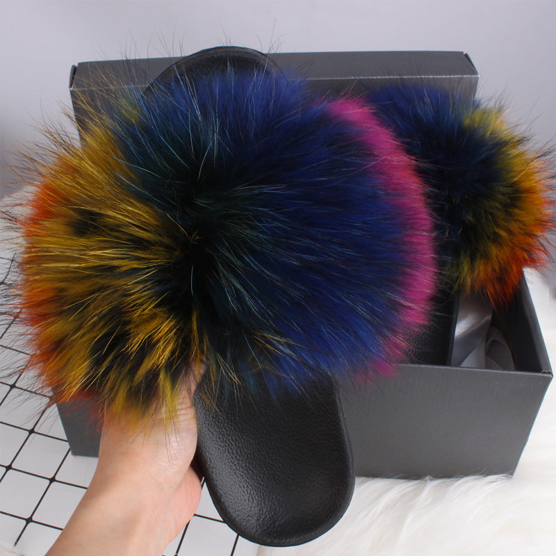 HTB MS.PARKER Luxury Fur Slides (6.5-11)