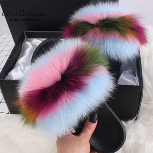HTB YUM YUM Luxury Fur Slides (6.5-11)