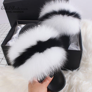 HTB PEPE Luxury Fur Slides (6.5-11)