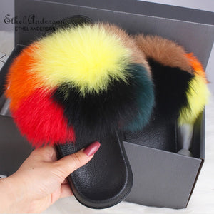 HTB CHANDICE   Luxury Fur Slides (6.5-11)