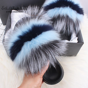 HTB AALIYAH Luxury Fur Slides (6.5-11)