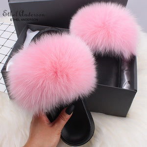 HTB PINKY Luxury Fur Slides (6.5-11)