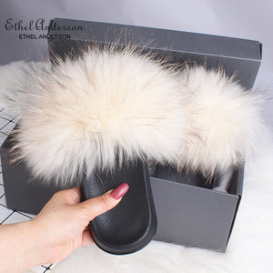 HTB PAMELA Luxury Fur Slides (6.5-11)