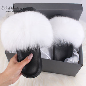 HTB LOLA Luxury Fur Slides (6.5-11)
