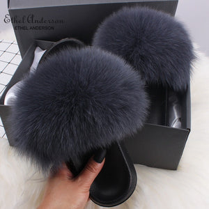 HTB MATILDA Luxury Fur Slides (6.5-11)