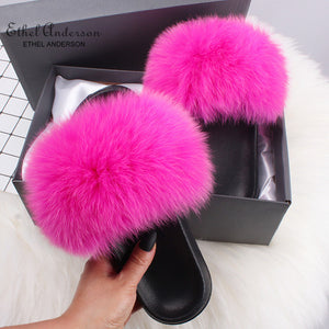 HTB DIXIE Luxury Fur Slides (6.5-11)